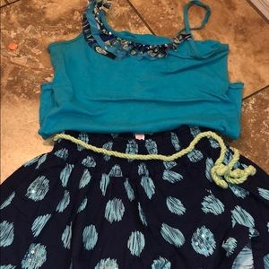 Justice top and skirt set